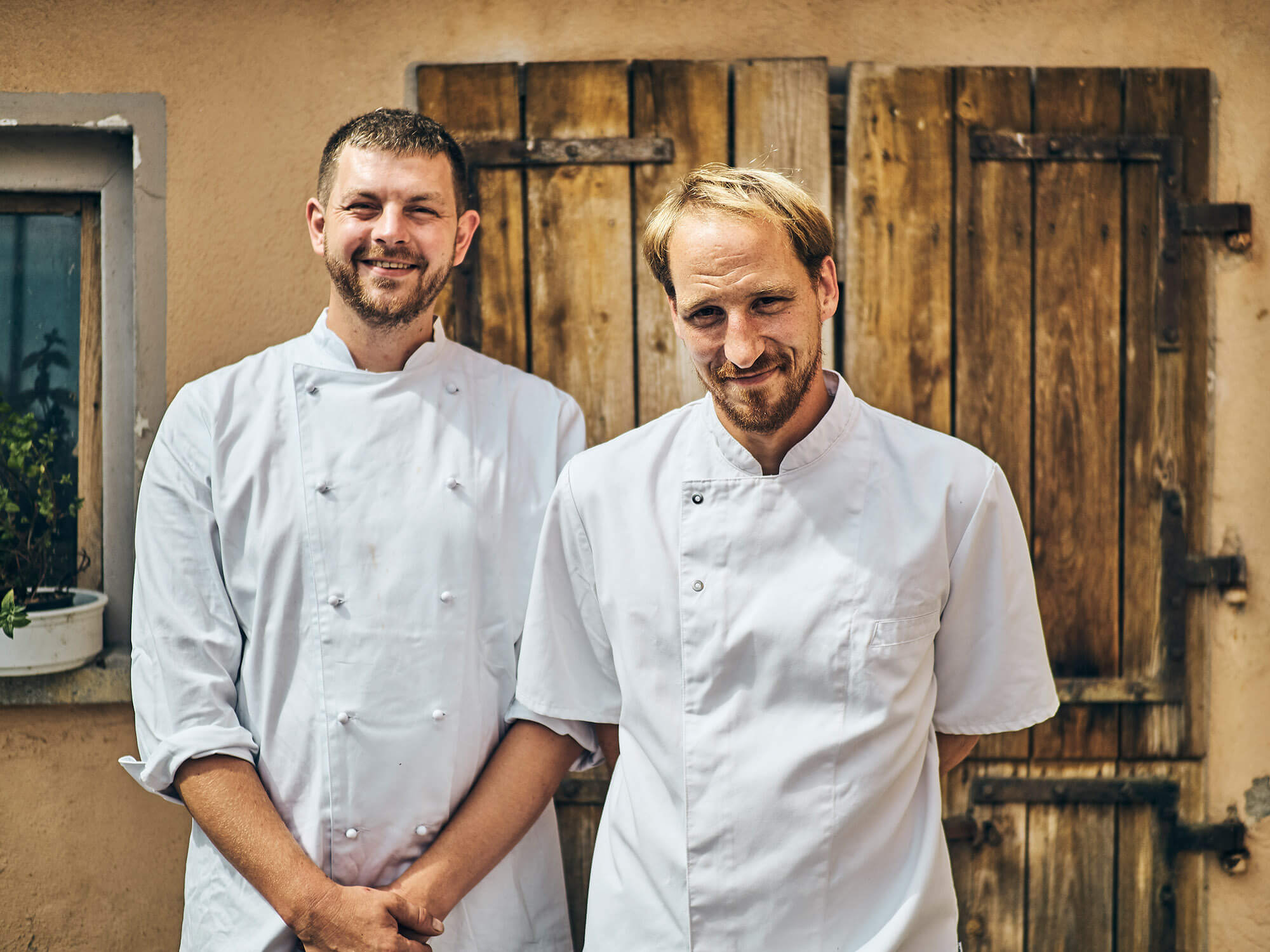 Johannes Fetz und Jan Buchholz –Team vom Bio-Gasthaus Fetz